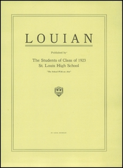Page 5, 1923 Edition, St Louis High School - Louian Yearbook (St Louis, MI) online yearbook collection