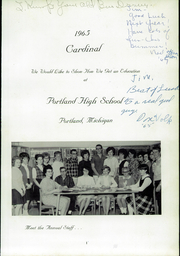 Page 5, 1965 Edition, Portland High School - Cardinal Yearbook (Portland, MI) online yearbook collection