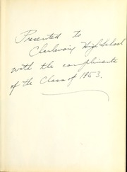 Page 3, 1953 Edition, Charlevoix High School - Rayder Yearbook (Charlevoix, MI) online yearbook collection