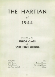 Page 7, 1944 Edition, Hart High School - Hartian Yearbook (Hart, MI) online yearbook collection