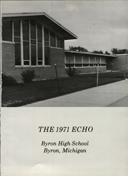 Page 5, 1971 Edition, Byron High School - Echo Yearbook (Byron, MI) online yearbook collection