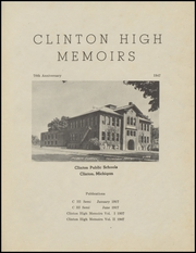 Page 3, 1947 Edition, Clinton High School - Memories Yearbook (Clinton, MI) online yearbook collection