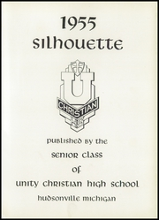 Page 5, 1955 Edition, Unity Christian High School - Silhouette Yearbook (Hudsonville, MI) online yearbook collection