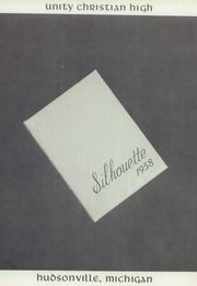 Page 5, 1958 Edition, Unity Christian High School - Silhouette Yearbook (Hudsonville, MI) online yearbook collection