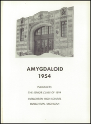 Page 5, 1954 Edition, Houghton High School - Amygdaloid Yearbook (Houghton, MI) online yearbook collection