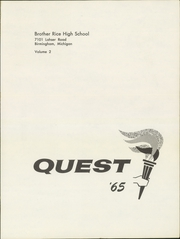Page 5, 1965 Edition, Brother Rice High School - Quest Yearbook (Bloomfield Hills, MI) online yearbook collection