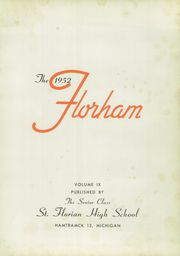 Page 5, 1952 Edition, St Florian High School - Florham Yearbook (Hamtramck, MI) online yearbook collection