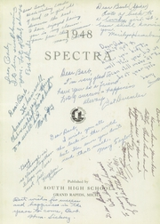 Page 5, 1948 Edition, South High School - Spectra Yearbook (Grand Rapids, MI) online yearbook collection
