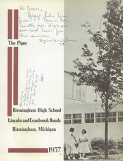 Page 7, 1957 Edition, Birmingham High School - Piper Yearbook (Birmingham, MI) online yearbook collection