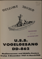 Page 3, 1958 Edition, Vogelgesang (DD 862) - Naval Cruise Book online yearbook collection