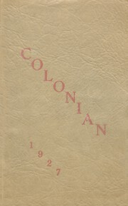 Colon High School - Magi Yearbook (Colon, MI) online yearbook collection, 1927 Edition, Page 1