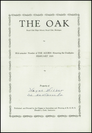 Page 5, 1929 Edition, Royal Oak High School - Oak Yearbook (Royal Oak, MI) online yearbook collection