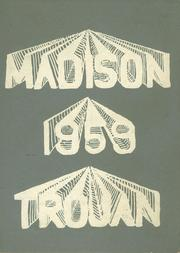 1959 Edition, Madison High School - Trojan Yearbook (Adrian, MI)