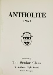 Page 5, 1951 Edition, St Anthony High School - Antholite Yearbook (Detroit, MI) online yearbook collection