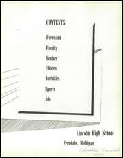 Page 7, 1956 Edition, Lincoln High School - President Yearbook (Ferndale, MI) online yearbook collection