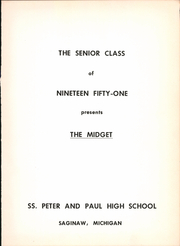 Page 5, 1951 Edition, Saints Peter and Paul High School - Yearbook (Saginaw, MI) online yearbook collection