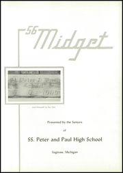 Page 5, 1956 Edition, Saints Peter and Paul High School - Yearbook (Saginaw, MI) online yearbook collection