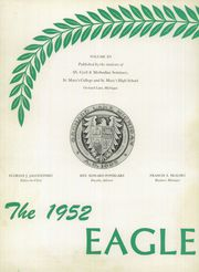 Page 6, 1952 Edition, St Mary Preparatory High School - Eagle Yearbook (Orchard Lake, MI) online yearbook collection