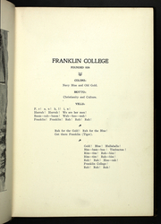 Page 17, 1898 Edition, Franklin College - Almanack Yearbook (Franklin, IN) online yearbook collection
