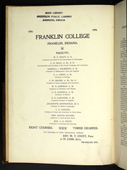 Page 6, 1898 Edition, Franklin College - Almanack Yearbook (Franklin, IN) online yearbook collection