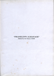 Page 3, 1919 Edition, Franklin College - Almanack Yearbook (Franklin, IN) online yearbook collection