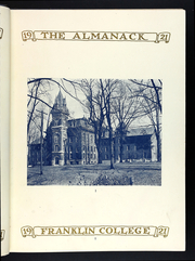 Page 11, 1920 Edition, Franklin College - Almanack Yearbook (Franklin, IN) online yearbook collection