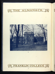 Page 12, 1920 Edition, Franklin College - Almanack Yearbook (Franklin, IN) online yearbook collection