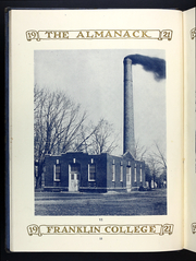 Page 16, 1920 Edition, Franklin College - Almanack Yearbook (Franklin, IN) online yearbook collection