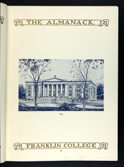 Page 17, 1920 Edition, Franklin College - Almanack Yearbook (Franklin, IN) online yearbook collection
