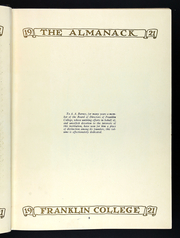 Page 9, 1920 Edition, Franklin College - Almanack Yearbook (Franklin, IN) online yearbook collection