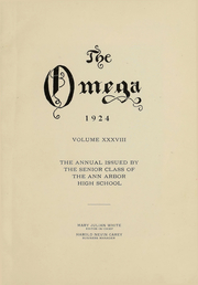 Page 2, 1924 Edition, Ann Arbor High School - Omega Yearbook (Ann Arbor, MI) online yearbook collection