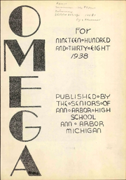 Page 9, 1938 Edition, Ann Arbor High School - Omega Yearbook (Ann Arbor, MI) online yearbook collection
