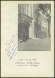 Page 5, 1958 Edition, Graveraet High School - Prism Yearbook (Marquette, MI) online yearbook collection