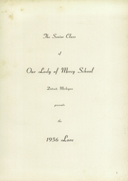 Page 5, 1956 Edition, Our Lady of Mercy School - Lore Yearbook (Detroit, MI) online yearbook collection
