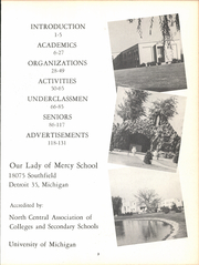 Page 7, 1961 Edition, Our Lady of Mercy School - Lore Yearbook (Detroit, MI) online yearbook collection