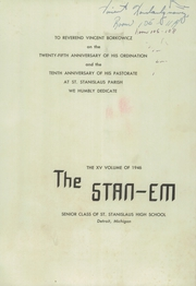 Page 3, 1946 Edition, St Stanislaus High School - Stan Em Yearbook (Detroit, MI) online yearbook collection
