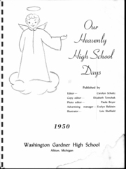 Page 2, 1950 Edition, Washington Gardner High School - Breeze Yearbook (Albion, MI) online yearbook collection