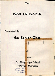 Page 5, 1960 Edition, St Mary High School - Crusader Yearbook (Wayne, MI) online yearbook collection