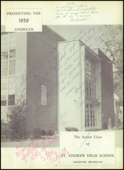 Page 5, 1959 Edition, St Andrew High School - Amplifier Yearbook (Saginaw, MI) online yearbook collection