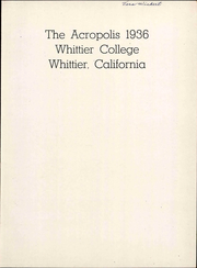 Page 9, 1936 Edition, Whittier College - Acropolis Yearbook (Whittier, CA) online yearbook collection