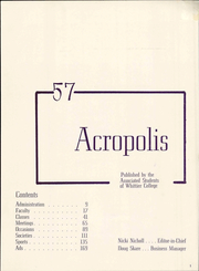 Page 7, 1957 Edition, Whittier College - Acropolis Yearbook (Whittier, CA) online yearbook collection