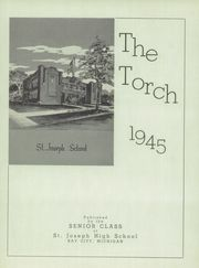 Page 5, 1945 Edition, St Joseph High School - Torch Yearbook (Bay City, MI) online yearbook collection