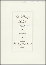 Page 3, 1958 Edition, St Marys High School - Salute Yearbook (New Baltimore, MI) online yearbook collection