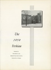 Page 7, 1959 Edition, Vermontville High School - Verhian Yearbook (Vermontville, MI) online yearbook collection