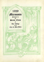 Page 5, 1929 Edition, City College of New York - Microcosm Yearbook (New York City, NY) online yearbook collection