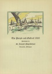 Page 7, 1929 Edition, St Joseph High School - Purple and Gold Yearbook (Escanaba, MI) online yearbook collection
