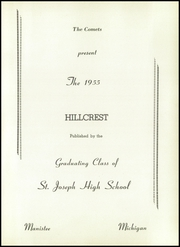 Page 5, 1955 Edition, St Joseph High School - Hillcrest Yearbook (Manistee, MI) online yearbook collection
