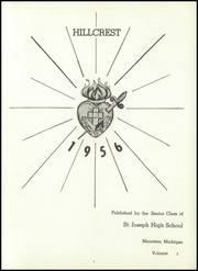 Page 5, 1956 Edition, St Joseph High School - Hillcrest Yearbook (Manistee, MI) online yearbook collection