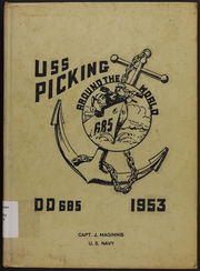 Page 1, 1953 Edition, Picking (DD 685) - Naval Cruise Book online yearbook collection