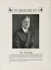 Page 12, 1922 Edition, University of Delaware - Blue Hen Yearbook (Newark, DE) online yearbook collection